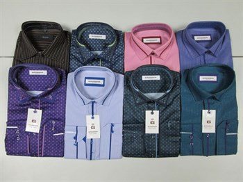 Модели мужских рубашек в ассортименте цветные - фото 4705