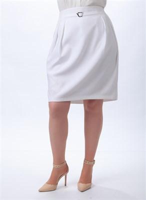 Белая юбка тюльпан - фото 5109
