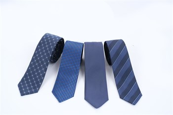 Галстуки  синие мужские - фото 5553