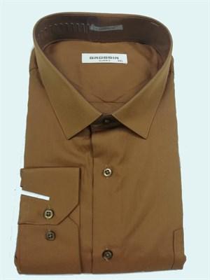 Сорочка мужская коричневая - фото 5576