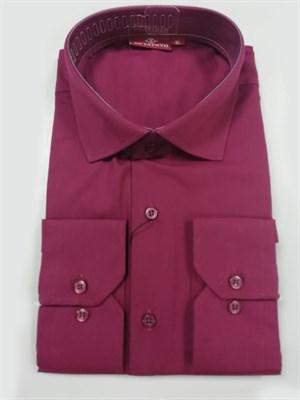 Сорочка мужская бордовая - фото 5579