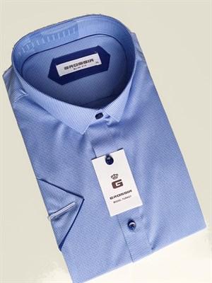 Сорочка светло-синяя короткий рукав - фото 5589