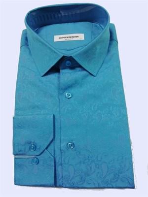 Сорочка бирюзовая - фото 5590