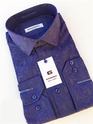 Сорочка фиолетовая с узором - фото 5611