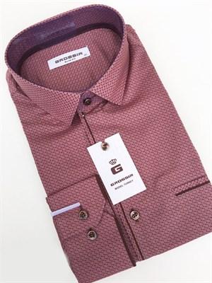 Рубашка мужская чайная роза с узором - фото 5617