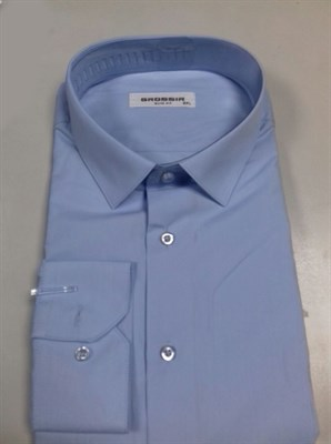 Сорочка однотонная светло-синяя - фото 5638