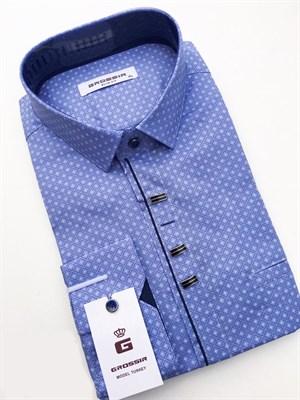Мужская сорочка светло-синяя - фото 5644