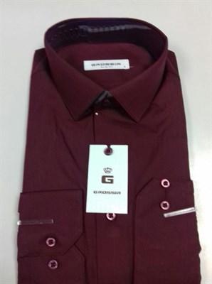 Рубашка мужская бордовая - фото 5646