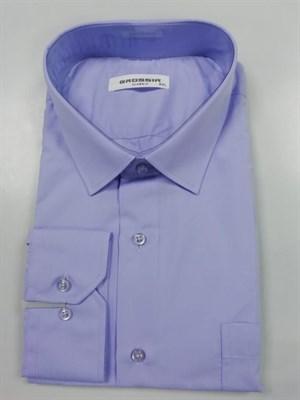 Сорочка мужская светло-фиолетовая - фото 5649