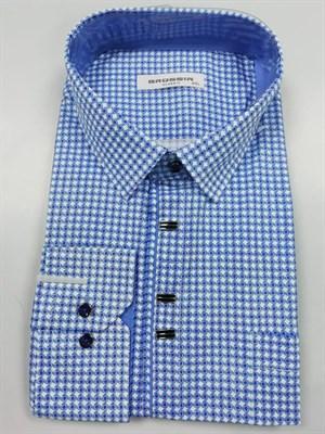 Сорочка мужская с синим узором - фото 5650