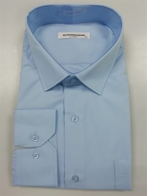 Сорочка мужская однотонная голубая - фото 5652