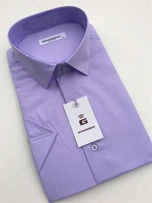 Сорочка светло-фиолетовая короткий рукав - фото 5665