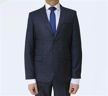 Приталенный мужской пиджак в клетку Хадсон - фото 6115