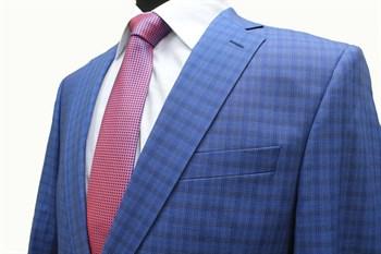 Классический мужской пиджак в мелкую клетку КБ-14 - фото 6215