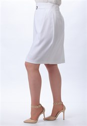 Белая юбка тюльпан - фото 5110
