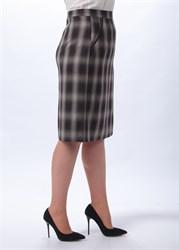 Прямая юбка в клетку - фото 5118