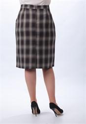 Прямая юбка в клетку - фото 5119