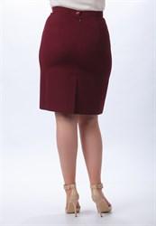 Юбка бордо прилегающего силуэта - фото 5126