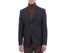 Приталенный повседневный мужской пиджак Диас