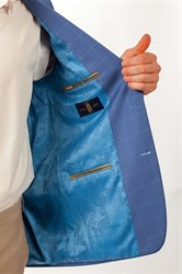 Классический пиджак в клетку Раньери - фото 5476