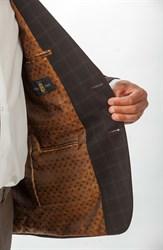 Повседневный коричневый мужской пиджак Тоскана - фото 5482