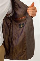 Пиджак мужской в клетку Мартенс, цвет: светло-коричневый - фото 5485