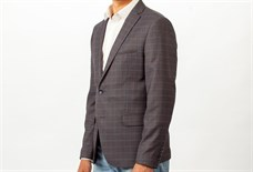 Серый мужской клетчатый пиджак Ротекс