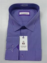 Сорочка мужская фиолетовая в полоску