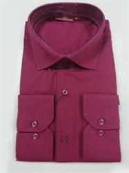 Сорочка мужская бордовая
