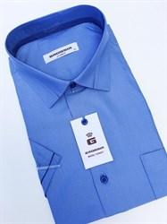 Сорочка мужская короткий рукав светло-синяя в полоску