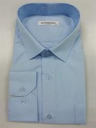 Сорочка мужская однотонная голубая