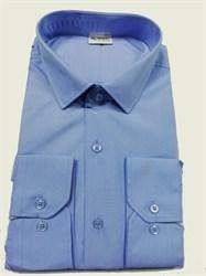 Мужская рубашка голубая в узкую полоску