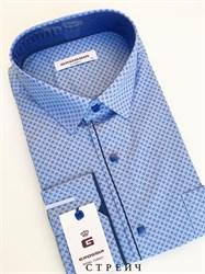 Мужская сорочка голубая с кнопками