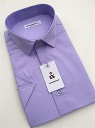 Сорочка светло-фиолетовая короткий рукав