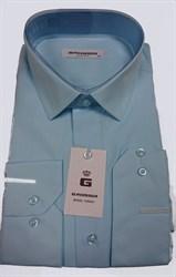 Сорочка мужская бирюзовая однотонная