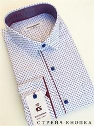 Сорочка мужская размер S стретч - фото 5735