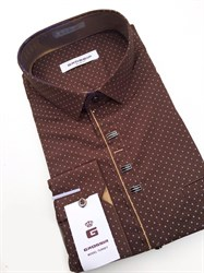 Сорочка мужская размер S стретч - фото 5737