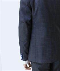 Приталенный мужской пиджак в клетку Хадсон - фото 6116