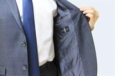 Приталенный мужской пиджак в клетку Хадсон - фото 6117