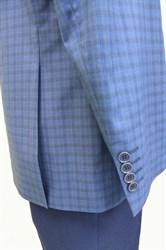 Классический мужской пиджак в мелкую клетку КБ-14 - фото 6216