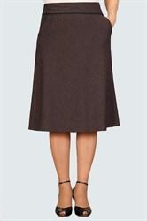 Юбка коричневая а-силуэта арт. 1254