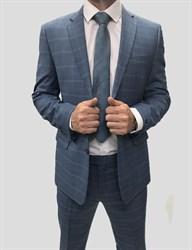 Мужской классический костюм в клетку - фото 6348