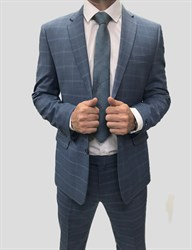 Мужской классический костюм в клетку КД-982 - фото 6353