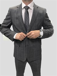 Мужской классический костюм в клетку КД-986 - фото 6361