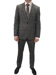 Мужской классический костюм в клетку КД-986